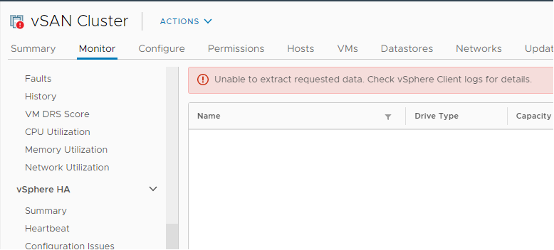 vmware_vsan_unable_to_extract_requested_data
