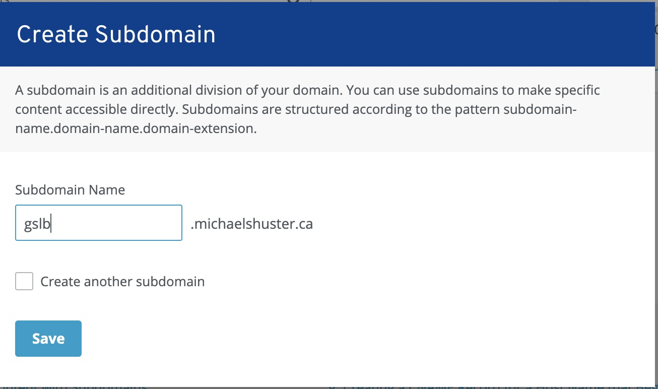 1&1 IONOS assign subdomain name for Citrix DNS delegation
