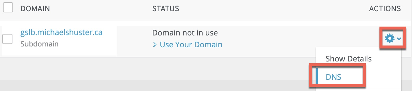 1&1 IONOS edit DNS for delegated Citrix ADC (NetScaler) GSLB subdomain