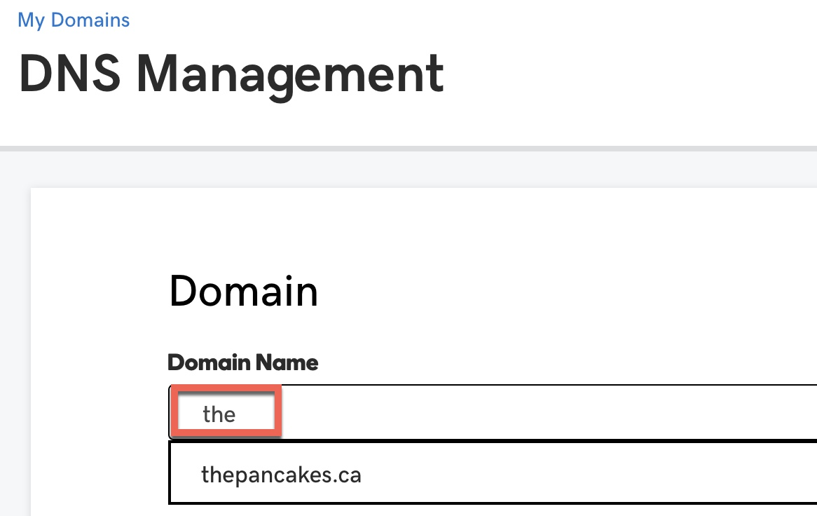 GoDaddy DNS manager search for domain to configure Citrix GSLB zone delegation