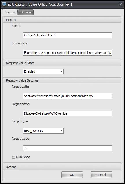 Fixing Office 365 activation on Windows Server 2019 via Citrix WEM